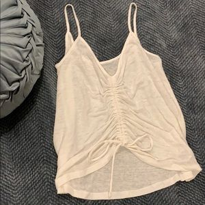 White Cinch Front Tank